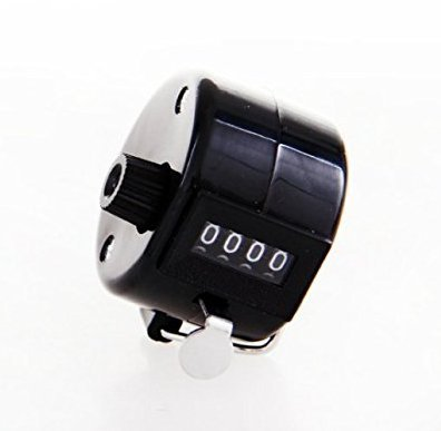 Preisvergleich Produktbild Unicoco 100112 Mechanischer Handzähler 4-stellig Ultra Hohe Qualität