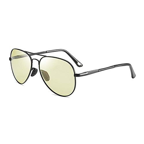 UV425 ProtectionNight Vision Farbwechsel Sonnenbrille männliche europäische und polarisierte Sonnenbrille neue Farbe polarisierte SonnenbrilleNight Vision gelb ash_Gun Rahmen + weißes Gehäuse -