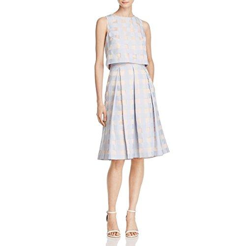 Eliza J Womens Organza Sleeveless Crop Top Dress