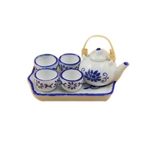 1 Satz chinesischen Stil Teekanne - 1; 12 Puppenhaus Miniatur-Möbel ()