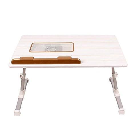 GAOLILI Laptop-Tisch auf dem Tisch mit dem Tisch zu bewegen die Falten einfache Lern-Schreibtisch Schreibtisch Lazy Schlafsaal Student Lern-Tabelle Kleine Tabelle Einfache Bett-Tabelle Erhöhung der Desktop Große Raum Starke Desktop drehbar ( Farbe : A )