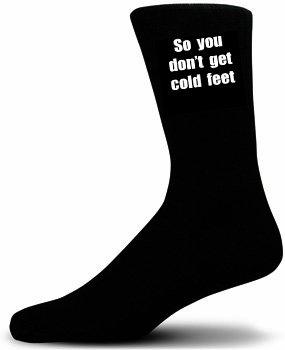 So you Don't Get Cold Feet Cotton Rich Socks WEDDING SOCKS, SOCKS FOR THE GROOM. SOCKS FOR YOUR PARTNER.