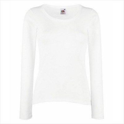 Fruit of the Appear - Lady-Fit Valueweight Longsleeve - Modell 2013 L,White