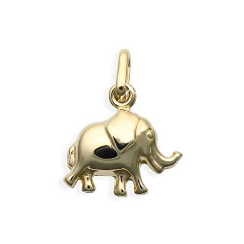 Kleiner Elefant Charms Anhänger 14 Karat Gold 585 (Art.206088)