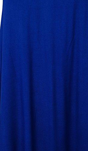 Bimba Frauen Solide Spaghetti Strap Maxikleid Sommer Strand Tragen Sommer Kleid Königsblau