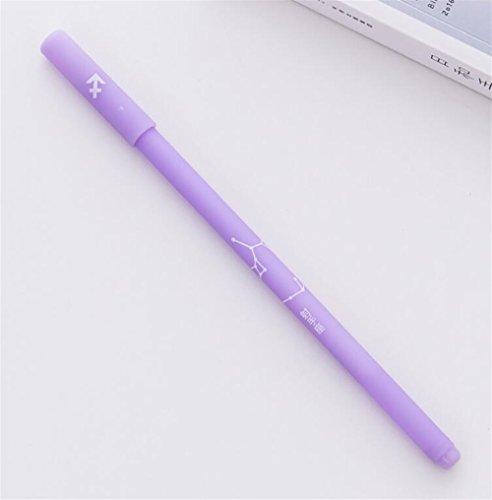 Sun Glower Büro Schulbedarf 4 Teile/satz Konstellation Serie Gel Pen Kit Spaß Unterschrift Stift Studie Schreibwaren Set (Schütze) Briefpapier Geschenkset