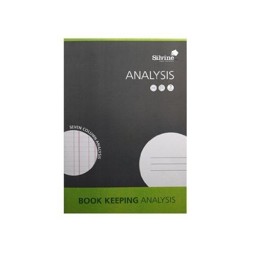Silvine SJA4A Notizbuch zur Buchhaltung, 32 Seiten, 7 Spalten, A4 3-Pack multi