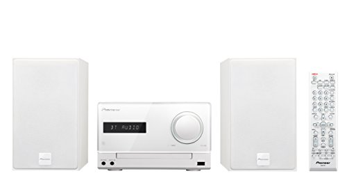 Pioneer X-CM35BT-W Micro Hifi-System (2x 15 Watt, Bluetooth, NFC, Front-USB, CD, Streaming App) weiß