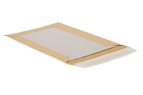 Bong 14002 - Sobre B5 de papel de estraza con cierre adhesivo y reverso de cartón gris (90 g/m² y 450 g/m², 250 unidades), color marrón