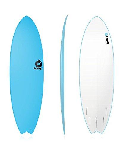 Tabla de surf TORQ Softboard 5.11Fish bluetorq Soft placas tienen una cubierta de espuma suave, suave finlandeses y tablas de un barco bajo el agua dura epoxi. son construido como la Torq Top epoxy pero terreno € útiles con un suave cubierta de espu...