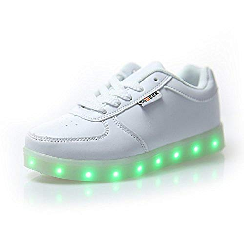 DoGeek - Men Women Sports  Sneakers Light up Trainers Multi-Colors Led Shoes  With d1e1cd13897