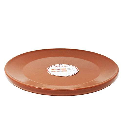 Azofra - Plato de barro para churrasco estilo redondo 28 cm