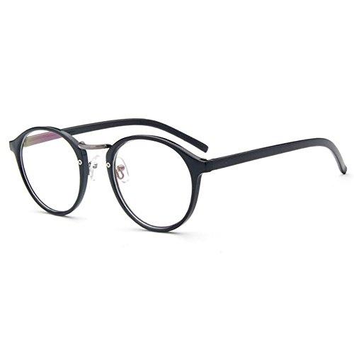 Mxssi Cat eye Runde Brillen - Brillenfassung Mit Fensterglas für Männer Frauen