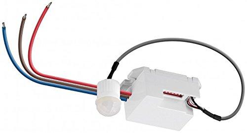 Goobay Infrarot Decken-Einbau-Bewegungsmelder 360 Grad Erfassung, 6m Reichweite, LED-geeignet IDU mini (weiss)