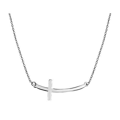 SOFIA MILANI Damen Halskette Kreuz Anhänger Silber 50234
