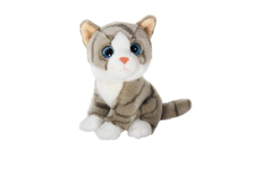 Wild Republic Wild Watchers 18cm Tiger Cat Plush (Grey)