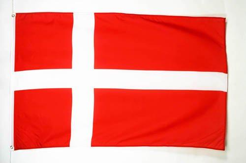 FLAGGE DÄNEMARK 150x90cm - DÄNISCHE FAHNE 90 x 150 cm feiner polyester - flaggen AZ FLAG (Dänische Flagge)