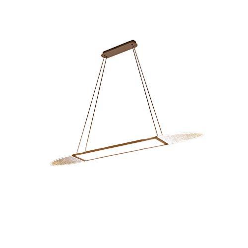 LED Moderne Pendelleuchte Kreativ Skateboard Hängleuchte Minimalistischer Wohnzimmer Esszimmer Küche Dekoration Hängelampe Drei-Farben-Licht Dimmbare Pendel Beleuchtung, 40cm