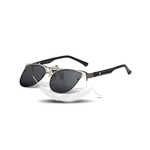 WJFDSGYG Polarisierte Cat Eye Sonnenbrille Frauen Fahren Clip Auf Myopie Brillen Weibliche Flip Up Brillen Nachtsichtobjektiv