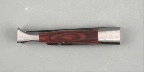 Pfeifenbesteck/Pfeifenmesser 3-teilig Edelstahl mit Holz