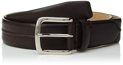 Cole Haan Herren 35mm Burnished Leather Belt with Pinched Seam Detail Gürtel, kastanienbraun, 42 -
