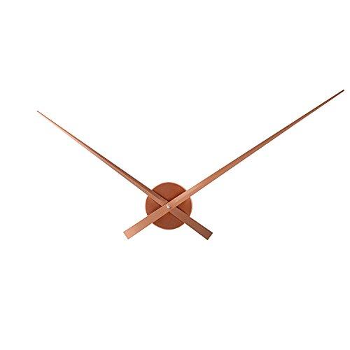 Énorme Horloge murale design simple time Cuivre 80 cm