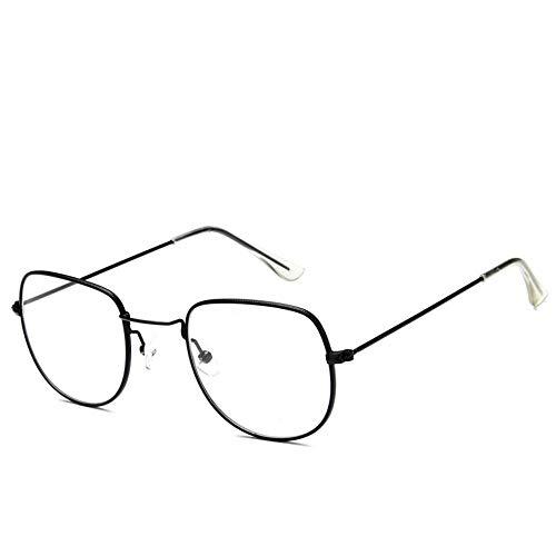Sonnenbrille Sonnenbrille Retro Metallrahmen Uv400 Klare Linse Plain Gläser Reisen Im Sommer Sonnenbrillen Für Männer Frauen Schwarz Transparent Spiegel Spiegel (Wayfarer Gläser Plain)