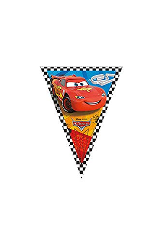 Speelgoed 81565P - Girlanden, Luftschlangen und Konfetti Cars Vlaggenlijn 3 m, mehrfarbig