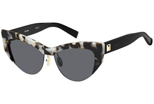 Max Mara Mujer Mm Lina I Ir Boa 55 Gafas de sol, Dorado (Ivory Havana/Grey Bluette)