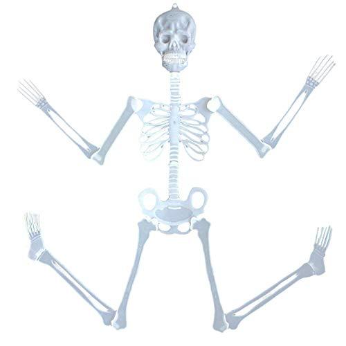 TianranRT 90cm Leuchtend Schädel Skelett Körper Unheimlich Halloween Spielzeug Geisterhaus Tricky Prop