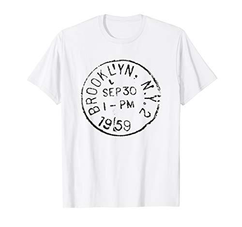 Brooklyn Kinder T-shirt (BROOKLYN NY Stamp Collector World Travel Distressed T-Shirt)