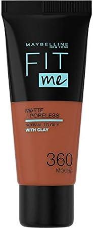 Maybelline New York Fondotinta Fit Me Matte&Poreless, Finish Opacizzante e Fissante, Tonalità: 360 M