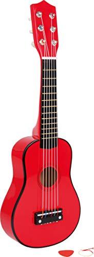 Gitarre / Musikinstrument in rot aus Holz, inkl. Plektron, ab 3 Jahren