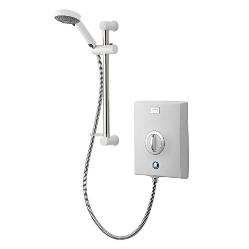 Aqualisa Quartz White/Chrome Electric Shower - 9.5kW Best Price and Cheapest
