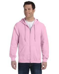 ?Gildan Adult Heavy Blend? Full-Zip Hooded Sweatshirt (Light Pink) (5X-Large) -