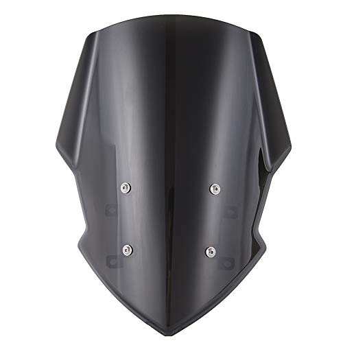 Price comparison product image XX eCommerce Motorcycle Motorbike Moto Sport Windshield Windscreen Shield Screen with Mounting Bracket Protector Deflecr for 2018-2019 Y-a-m-a-h-a MT FZ 07 MT-07 18 19 (Smoke)