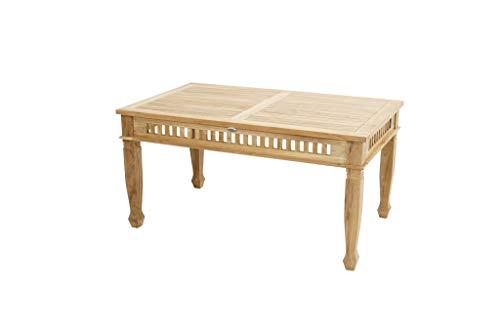 Ploß Teakholz-Tisch New Orleans im Kolonial-Stil, robust und fein zugleich,150x90x75, einfach schön cm