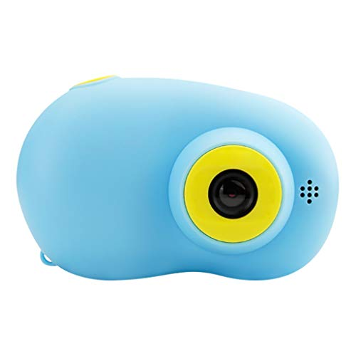 SIXCUP Digitale Kamera für Kinder Digitalkamera Videokamera Full HD 1080P 2 Zoll LCD-Bildschirm Kinder Mini Portable Kinderkamera Mit USB Kabel (Blau)