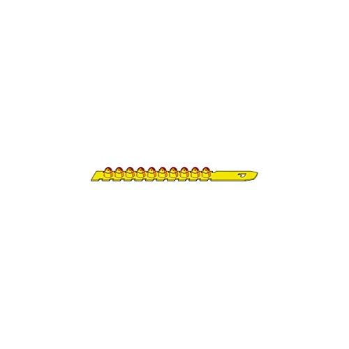 Alsafix - 100 charges propulsives en bande PSL jaunes puissance moyenne pour cloueur poudre - PO50626 Alsafix