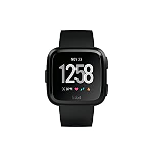 Fitbit Versa - Reloj Deportivo Unisex - Negro/Gris - Talla Única
