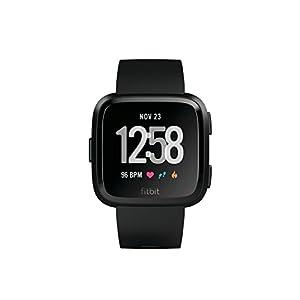 Fitbit Unisex Versa Health and Fitness Smartwatch, Black, Onesize