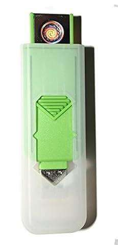 USB Smart Feuerzeug von Champ High Power Lange Lebensdauer Wiederaufladbare Zelle Keine Flamme Kein Gas Nachfüllbare Qualität Smart USB Igniter Verschiedene Farben Brand New GREEN