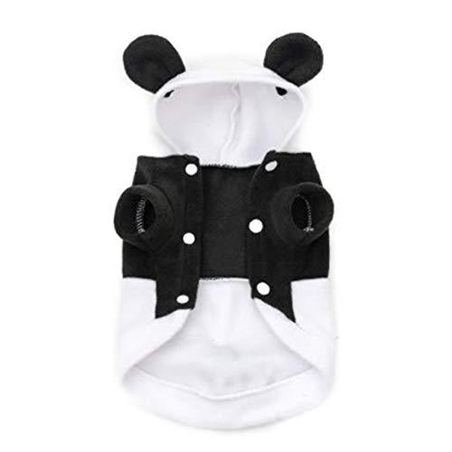 Fantasyworld Schwarzweiß-Panda Verwandlungs Zwei Beine Hunde Shirts Polar -