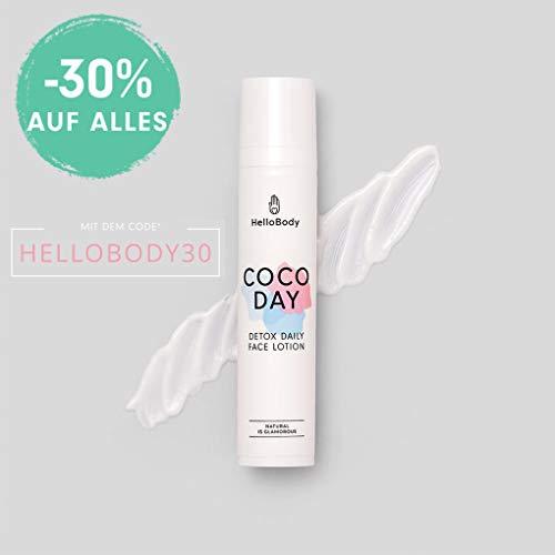 HelloBody Coco Day Detox Daily Face Cream (50 ml) - Vegane Tagescreme gegen Unreinheiten -...