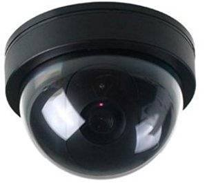 BW Cámara Dummy, Seguridad Doméstica Falso Cámara Imitación Dummy Cúpula Cámara De Seguridad Con Luz Intermitente LED