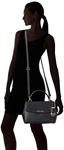 Michael Kors  Ava Small Satchel, Sac à main pour Femme Noir (Black 001)