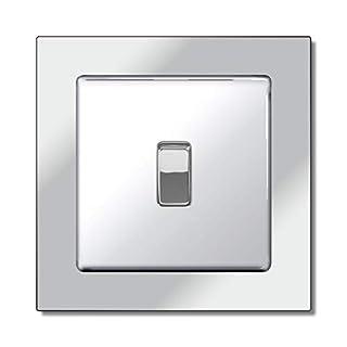 Mirror Single Light Switch Surround Acrylic Finger Plate Panel Socket