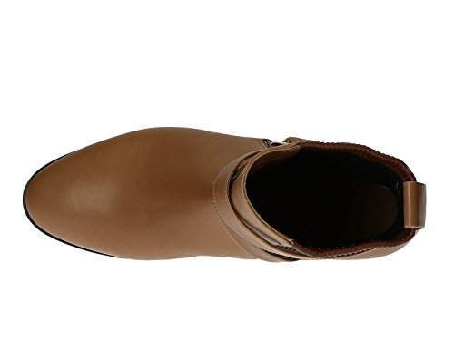Bottines plates Chloé femme en cuir nappa Camel - Code modèle: CH25210 Camel