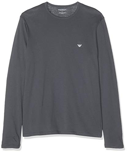 Emporio Armani Underwear Herren Men's Knit T-Shirt, Grau (Antracite 00044), Medium (Herstellergröße: M)