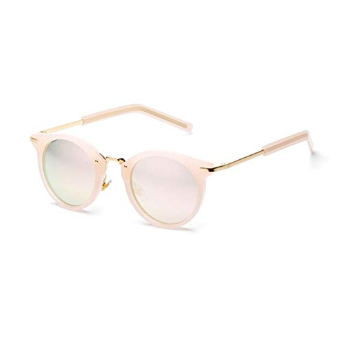 Wenkang Frauen-Bunte Sonnenbrille-Designer-Weinlese-Sonnenbrille-Dame Round Shades Street Style Frames Eyewear Chill Trend Sunny Popular,A3